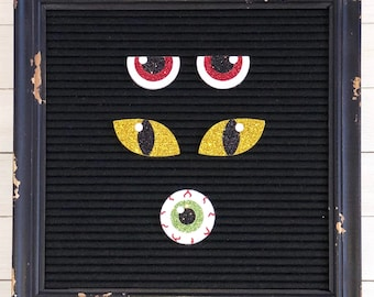 Spooky Eyes Letter Board Icons & Accessories