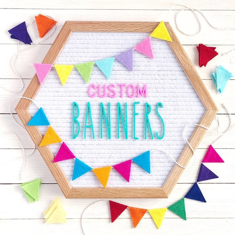 MADE TO ORDER: Custom Mini Banner and Garland image 0