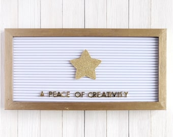 Large Gold Star Letter Board Icon and Accessory