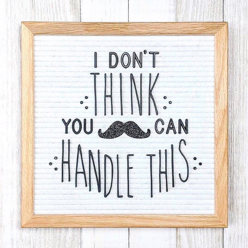 Mustache Letter Board Icon and Accessory  Set of 2 image 0