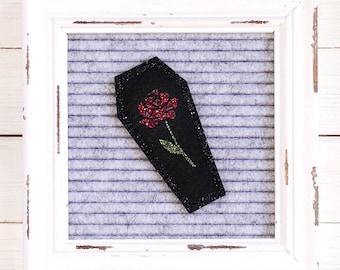 Rose Coffin Letter Board Icon & Accessory