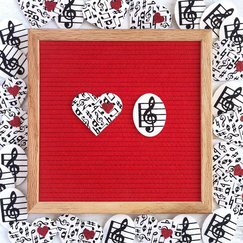Music and Treble Clef Letter Board Icons and Accessories  Set image 0