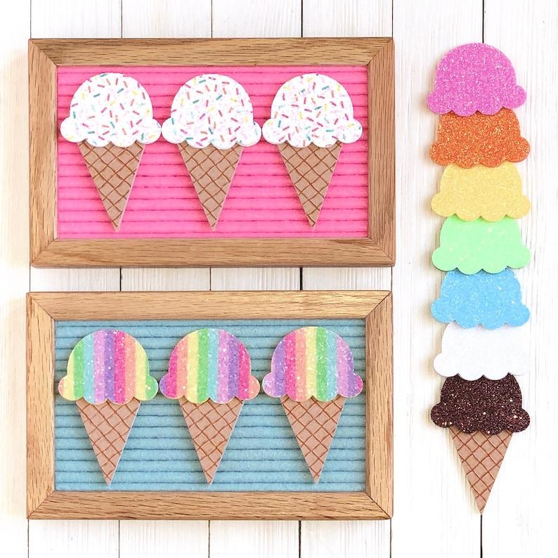 Ice Cream Cone Letter Board Icons & Accessories  Pick and image 0