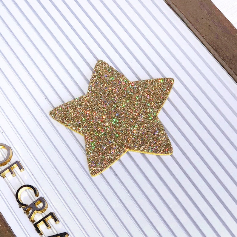 Gold Star Letter Board Icon and Accessory image 0