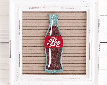 Soda Pop Bottle Letter Board Icon & Accessory
