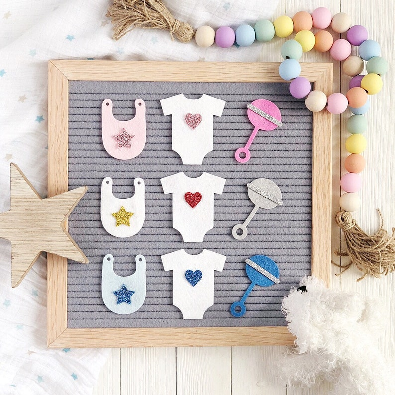 Baby Shower Letter Board Icons and Accessories image 0
