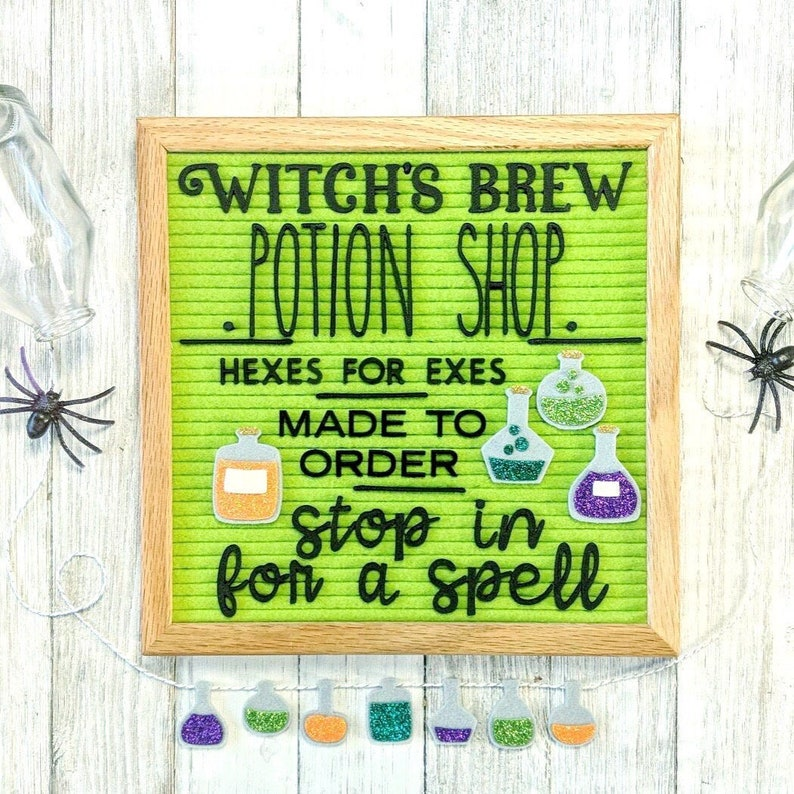 Halloween Potions Letter Board Accessories/Banner image 0