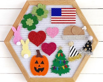 Holiday Letter Board Icons and Accessories