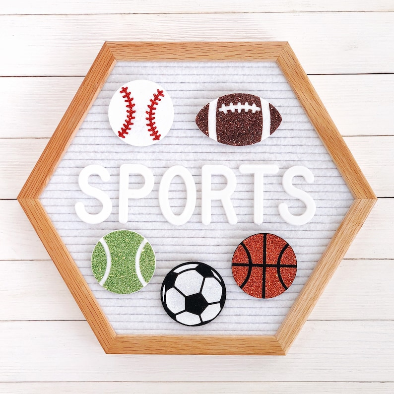 Sports Letter Board Icons and Accessories image 0