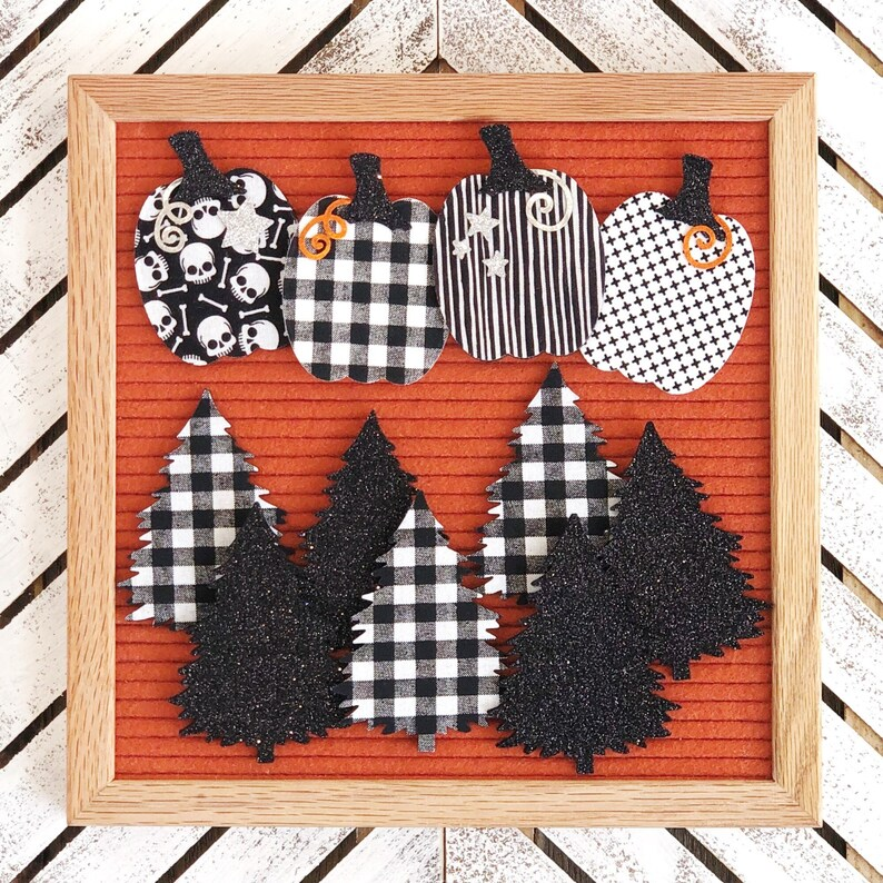 Halloween Pumpkins and Trees Letter Board Accessories and image 1
