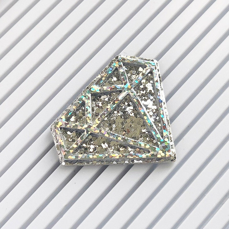 Diamond Gem Shaped Letter Board Icon and Accessory image 0
