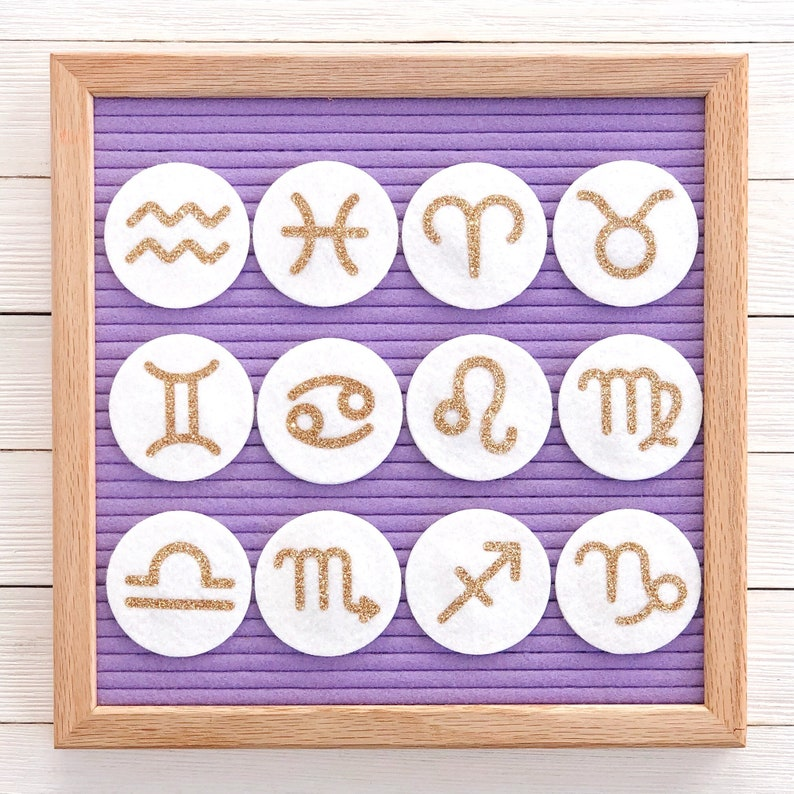 Zodiac Letter Board Icons and Accessories image 0