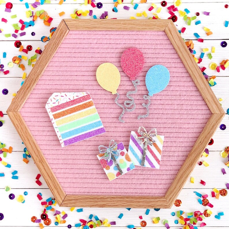 Birthday Letter Board Icons and Accessories Birthday Bundle