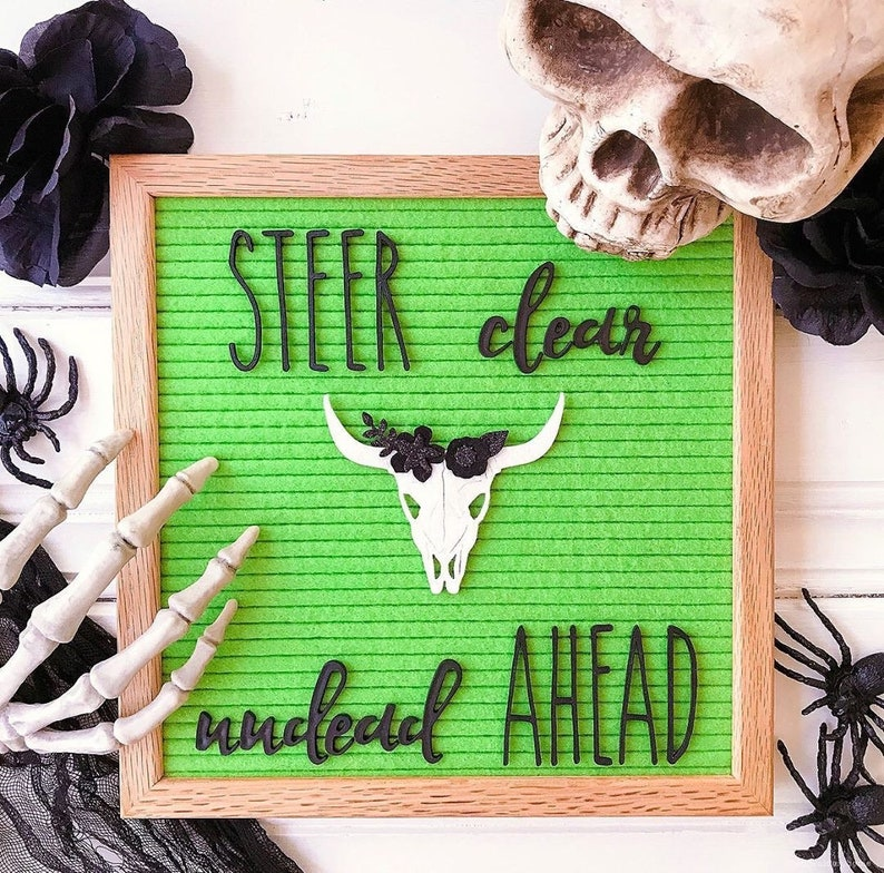 Bull Skull Letter Board Accessory and Icon image 0