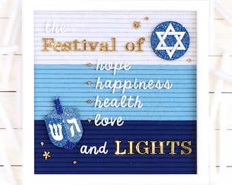 Hanukkah Letter Board Accessories and Icons   Set of 2