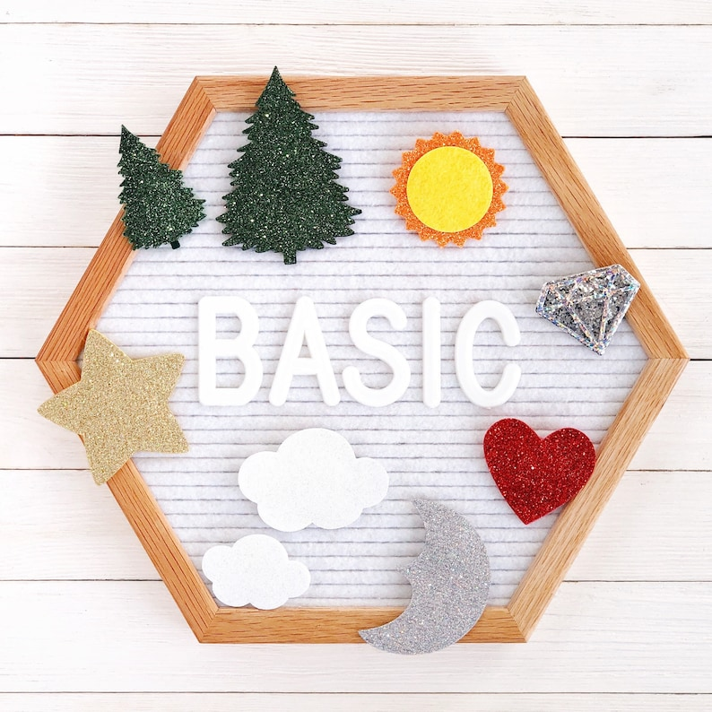 Basic Shapes Letter Board Icons and Accessories image 0