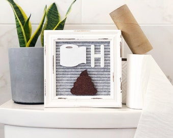 Bathroom Letter Board Icons and Accessories