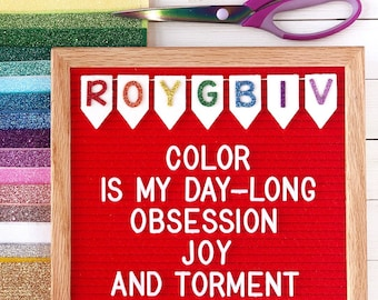 Rainbow Banner Letter Board Icon and Accessory