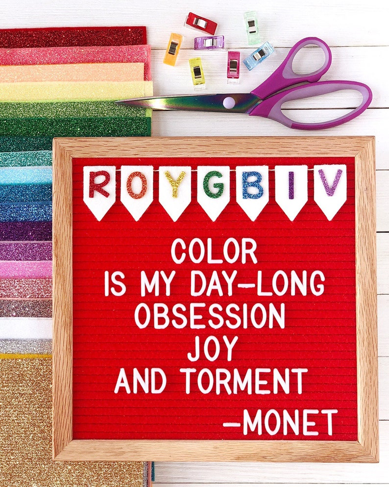 Rainbow Banner Letter Board Icon and Accessory image 0