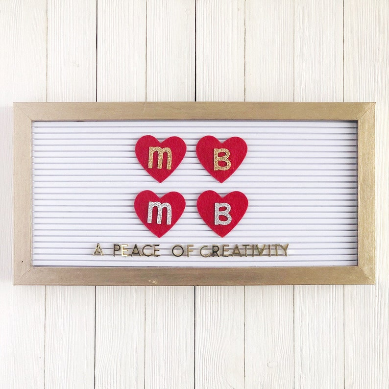 MADE TO ORDER: Initial Heart Letter Board Icon image 0