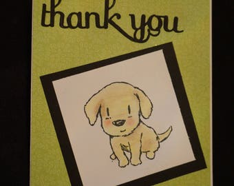 Puppy Dog Thank You card