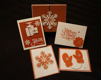 Christmas Cards Elegant Red Box Set