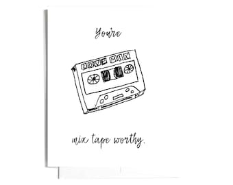 Mix Tape Note Card