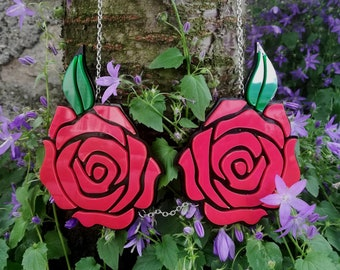 Plexiglas Roses Necklace