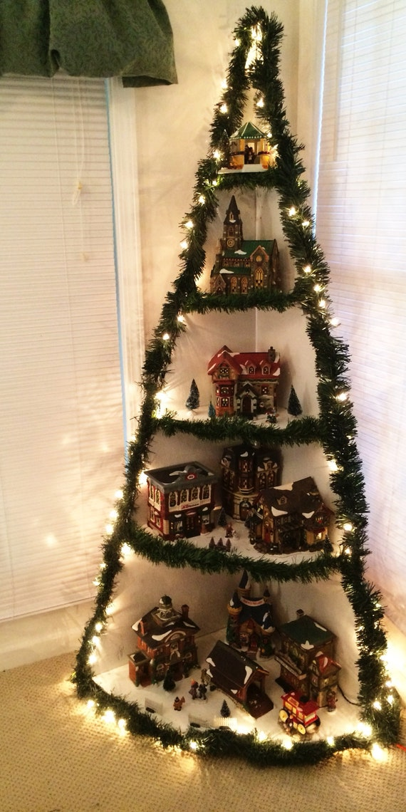 Christmas Village Display.Christmas Village Display Tutorial Wooden Christmas Tree Instructions Corner Christmas Village Display Tutorial Diy Wooden Christmas Tree
