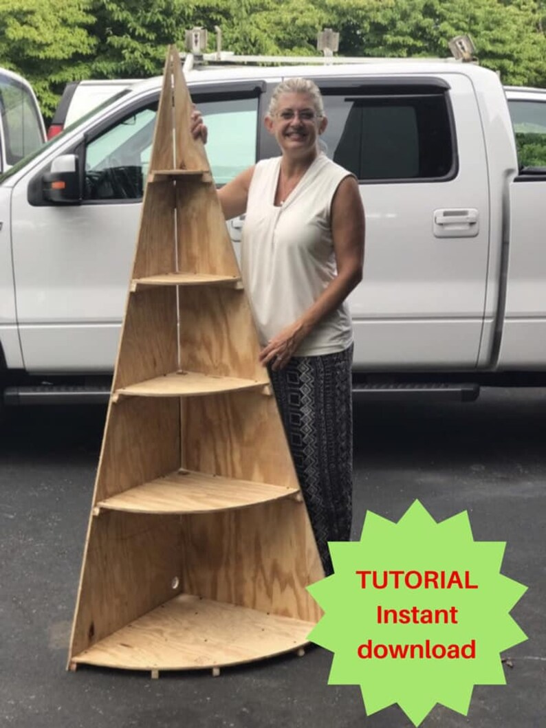 Christmas Village Display Tutorial Wooden Christmas Tree Etsy