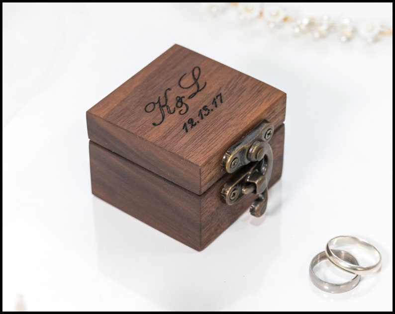 ring box wedding ring box ring bearer box engagement ring box image 0