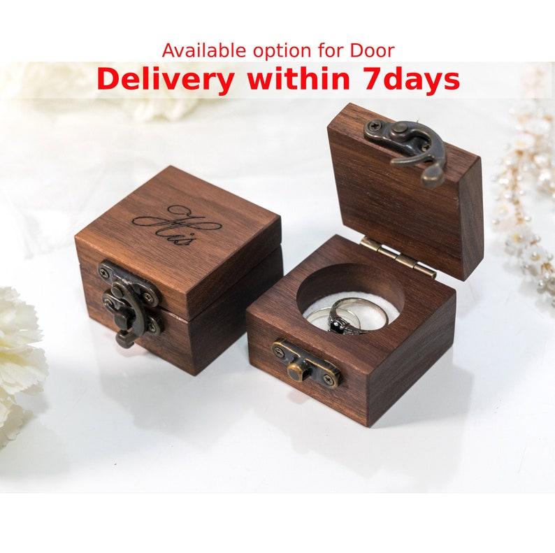 ring box wedding ring box ring bearer box engagement ring box image 0