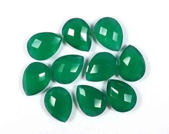 Calibrated Green Onyx Gemstone Briolette Green Onyx Octagon Gem Green Onyx calibrated 25x25x6mm Green Onyx Jewelry ring size stones