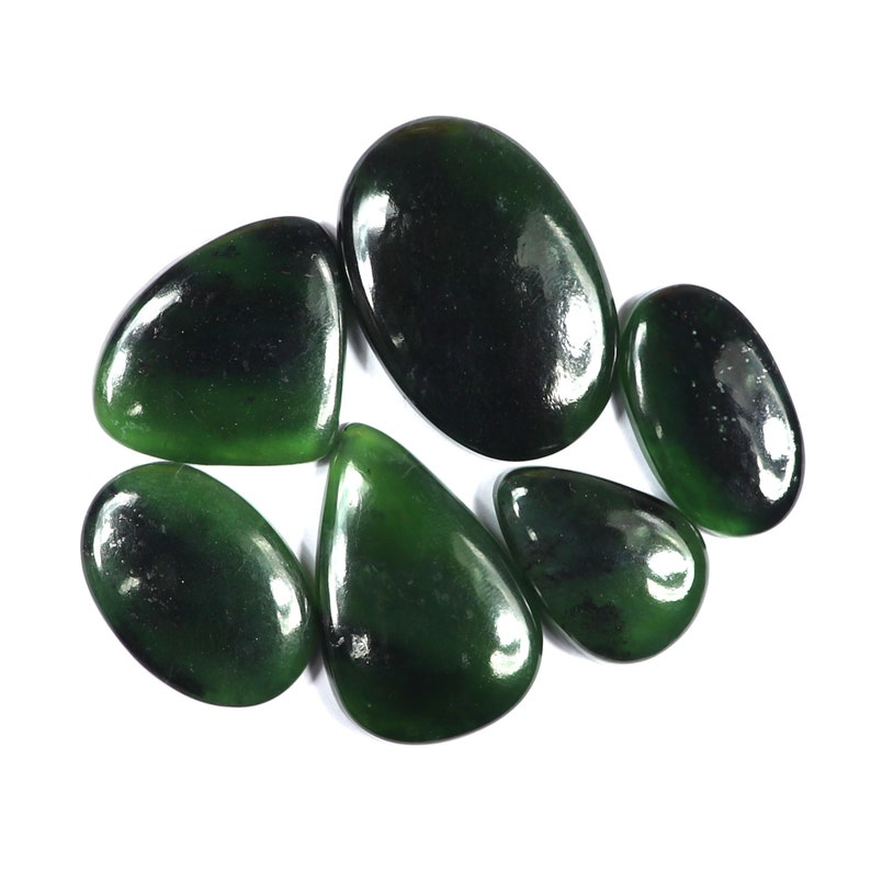 Handmade Polish Use For Jewelry Making Loose Gemstone,#SKU9648 Natural serpentine Cabochons,6 Pcs Amazing Quality Serpentine Cabochons