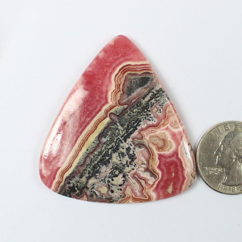 1 Pcs Of 160Cts 54x50mm  Natural Pink Rhodochrosite Cabochon Rare Rhodochrosite Polished Smooth Jewelry Making Loose Gemstone #SKU4652