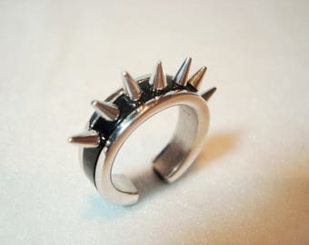 Barbed ring - ring heavy metal - ring Gothic - ring for gifts _ silver ring