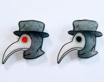 d3d44afbab84e Lapel Pin - Plague Doctor  Handmade Decorative Jacket Brooch Flair