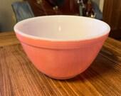 Pink Flamingo Pyrex 401 1 1 2 Pint Mixing Bowl