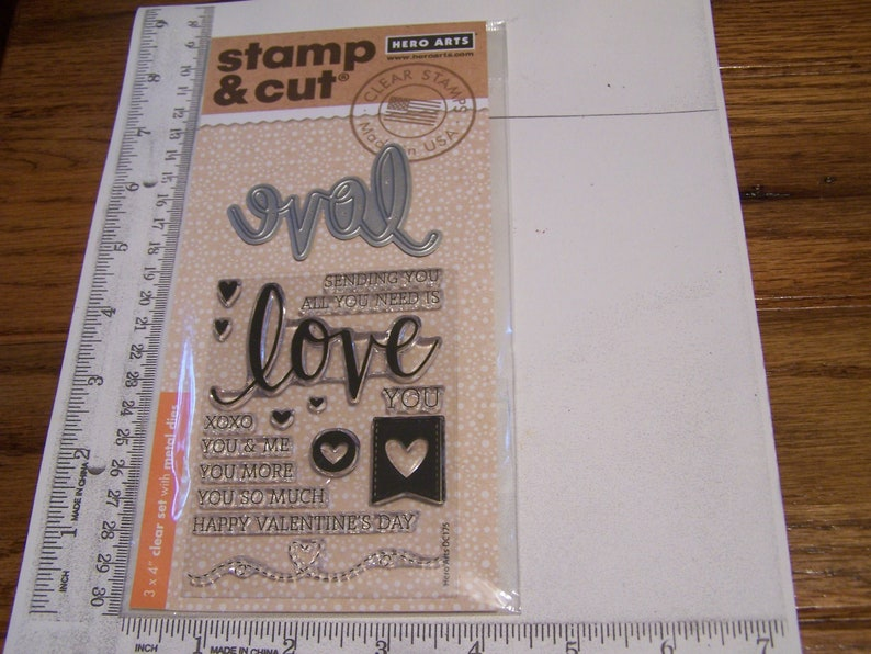 HERO ARTS STAMP /& CUTS CONGRATS CLEAR STAMPS WITH MATCHING DIE-CUTS *LOOK*