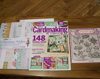 Cardmaking & Papercraft Magazine Issue 176 Christmas 2017 +Angel Clear Stamp Set +Star Embossing Folder +Paper Designs