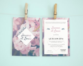 """The Atamaca Roses"" wedding invitation"