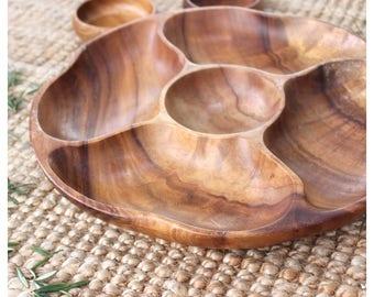 Vintage Solid Wood Serving Platter