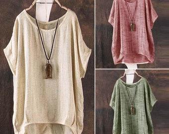 35db0fad7a2e Women s Stylish Zanzea BoHo Hippie Girl Loose Top Shirt Batwing Dolman  Casual Summer Wear
