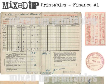 Mixed Up Printables - Finance Ephemera #1