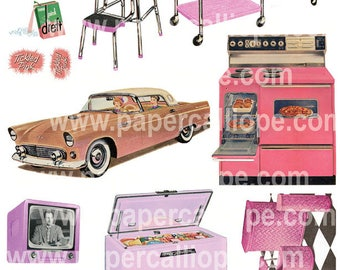 PaperCalliope - Tickled Pink - Retro Pink Household