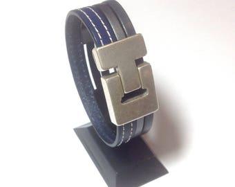Micio by As men's leather bracelet