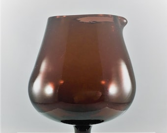 Large Amethyst Glass Brandy Snifter With Spout