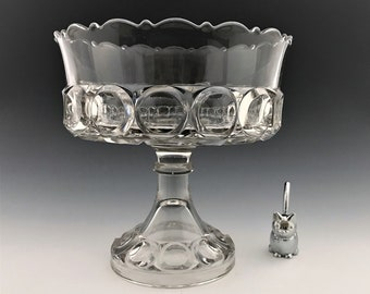 EAPG Compote - Bellaire Goblet Company No. 151 (OMN) - AKA Giant Bull's Eye - Early American Pattern Glass - Circa 1890