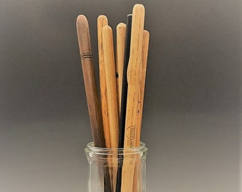 Collection of 9 Vintage Wooden Drumsticks - Pro Mark - Trueline