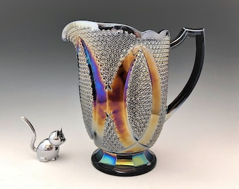 Westmoreland High Hob Water Pitcher - Made for Levay - Purple Carnival Glass - Limited Edition - Hard to Find
